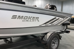 Two-Tone Paint Scheme of a 2020 Smoker Craft 182 Pro Mag Fishing Boat