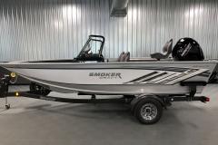 ShoreLand'r Trailer of a 2020 Smoker Craft 182 Pro Mag Fishing Boat
