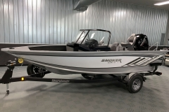 White Exterior Color of a 2020 Smoker Craft 182 Pro Mag Fishing Boat