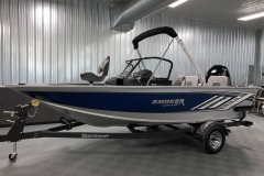 Folded Fisherman's Top of a 2020 Smoker Craft 182 Pro Mag Fishing Boat