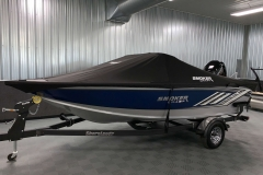 Ratcheting Dowco Cover of a 2020 Smoker Craft 182 Pro Mag Fishing Boat