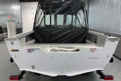 Ultra-Wide Beam of a 2020 Smoker Craft Phantom 18 X2 Fishing Boat