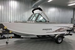 Easy Stow Fisherman's Top of a 2020 Smoker Craft Phantom 18 X2 Fishing Boat