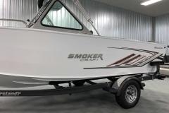 Smoker Craft Chrome Emblem of a 2020 Smoker Craft Phantom 18 X2 Fishing Boat