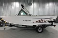 Easy Stow Fisherman's Top of a 2020 Smoker Craft Phantom 18 X2 Fishing Boat 2