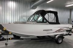 Fisherman's Top Enclosure of a 2020 Smoker Craft Phantom 18 X2 Fishing Boat