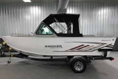 Fisherman's Top Enclosure of a 2020 Smoker Craft Phantom 18 X2 Fishing Boat 2