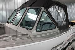 Full Enclosure of a 2020 Smoker Craft Phantom 18 X2 Fishing Boat
