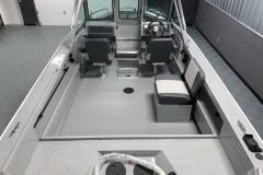 Interior Cabin Layout of a 2020 Smoker Craft Phantom 18 X2 Fishing Boat