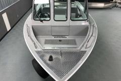 Interior Bow Layout of a 2020 Smoker Craft Phantom 18 X2 Fishing Boat