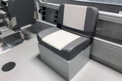 Portable Bench Seat of a 2020 Smoker Craft Phantom 18 X2 Fishing Boat
