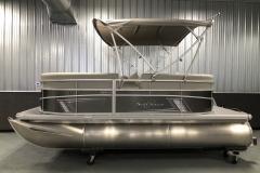 Carbon Exterior Color of a 2020 SunChaser Vista 16 LR Pontoon Boat 2
