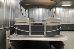 Carbon Exterior Color of a 2020 SunChaser Vista 16 LR Pontoon Boat 1