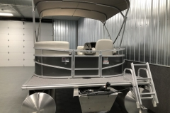 Rear Swim Deck  of a 2020 SunChaser Vista 16 LR Pontoon Boat