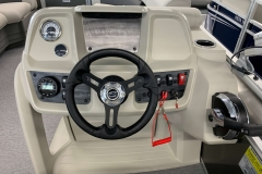 Driver's Console of a 2020 SunChaser Vista 16 LR Pontoon Boat