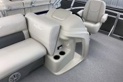 Helm of a 2020 SunChaser Vista 16 LR Pontoon Boat