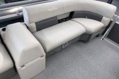 Port Side Bow Seating of a 2020 SunChaser Vista 16 LR Pontoon Boat