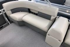 Port Side Rear Seating of a 2020 SunChaser Vista 16 LR Pontoon Boat