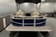 Bow Deck of a 2020 SunChaser Vista 18 Fish Pontoon Boat
