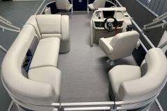 Interior Layout of a 2020 SunChaser Vista 18 Fish Pontoon Boat