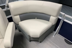 Starboard Side Rear Seating of a 2020 SunChaser Vista 18 Fish Pontoon Boat