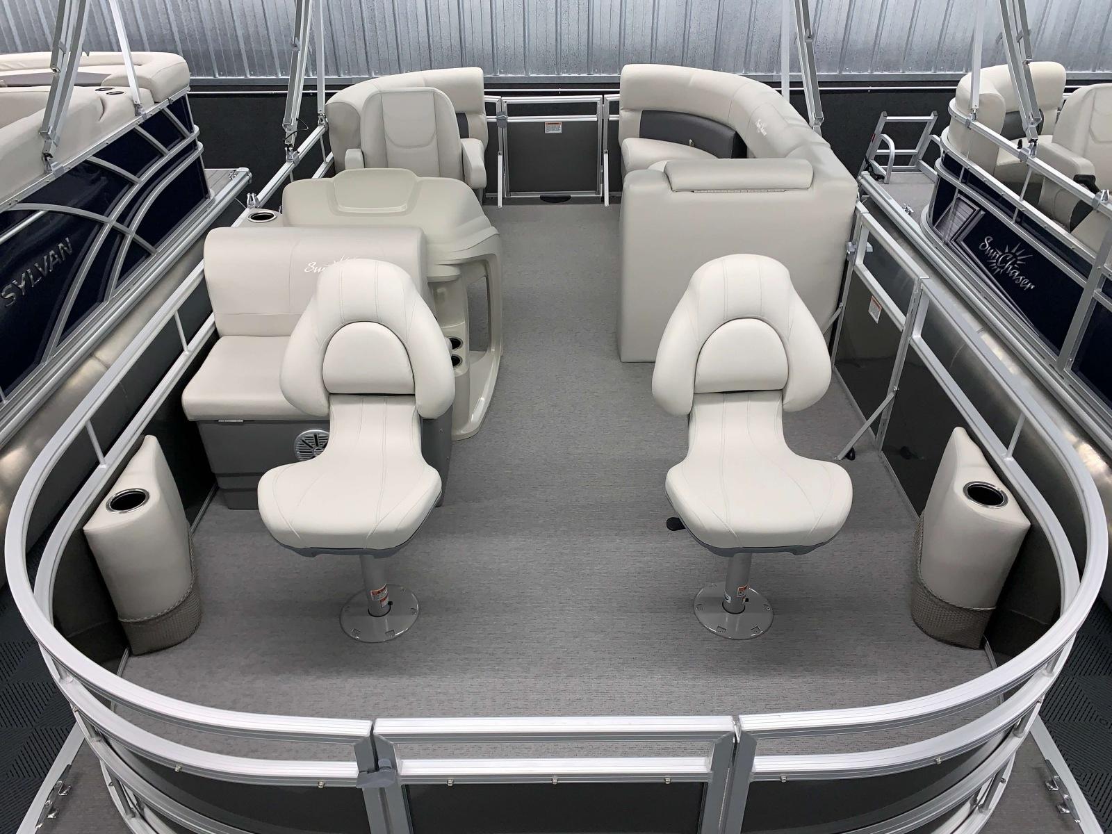 Fishing Station of a 2020 SunChaser Vista 18 Fish Pontoon Boat