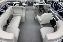 Sea Weave Vinyl Floor of a 2020 SunChaser Vista 18 Fish Pontoon Boat