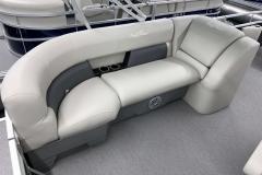 Port Side Rear Seating of a 2020 SunChaser Vista 18 Fish Pontoon Boat