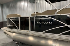 Black Exterior of a 2021 Sylvan Mirage 820 Cruise Pontoon 4