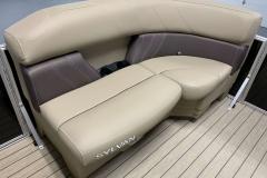 Tan Interior Seating of a 2021 Sylvan Mirage 820 Cruise Pontoon 1