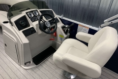 Captain's Chair and Helm of a 2021 Sylvan Mirage 820 Cruise Pontoon