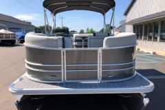 Carbon Exterior of a 2020 Sylvan Mirage 820 Cruise Pontoon 3