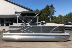 Carbon Exterior of a 2021 Sylvan Mirage 820 Cruise Pontoon 6