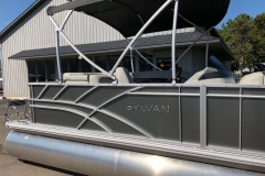 Carbon Exterior of a 2020 Sylvan Mirage 820 Cruise Pontoon 5