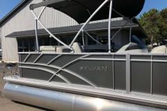 Carbon Exterior of a 2021 Sylvan Mirage 820 Cruise Pontoon 5
