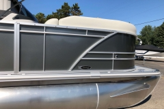 Carbon Exterior of a 2020 Sylvan Mirage 820 Cruise Pontoon 4