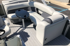 Gray Interior Seating of a 2021 Sylvan Mirage 820 Cruise Pontoon 1