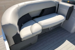 Gray Interior Seating of a 2020 Sylvan Mirage 820 Cruise Pontoon 3
