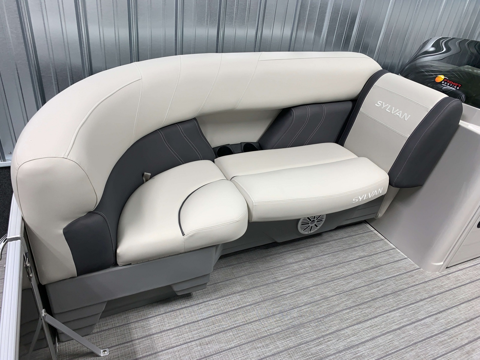 Rotocast Seat Bases of a 2021 Sylvan Mirage 8520 Cruise Tritoon Boat