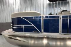 Blue Exterior Color of a 2021 Sylvan 8520 Party Fish Pontoon Boat 3
