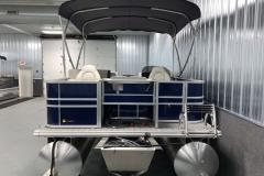Rear Swim Deck of a 2021 Sylvan 8520 Party Fish Pontoon Boat