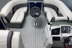 Interior Bow Layout of a 2021 Sylvan 8520 Party Fish Pontoon Boat 2