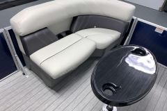 Port Side Bow Seating of a 2021 Sylvan 8520 Party Fish Pontoon Boat