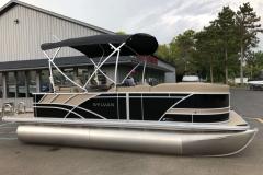 Black and Tan Exterior of a 2020 Sylvan L1 Cruise Pontoon 1