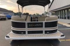 Black and Tan Exterior of a 2020 Sylvan L1 Cruise Pontoon 2