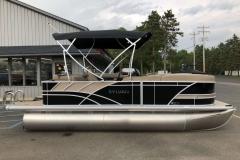Black and Tan Exterior of a 2020 Sylvan L1 Cruise Pontoon 5