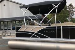 Black and Tan Exterior of a 2020 Sylvan L1 Cruise Pontoon 4