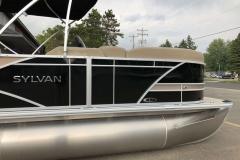 Black and Tan Exterior of a 2020 Sylvan L1 Cruise Pontoon 3