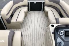 Interior Bow Layout of a 2020 Sylvan L1 Cruise Pontoon