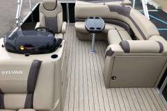 Interior Aft Layout of a 2020 Sylvan L1 Cruise Pontoon